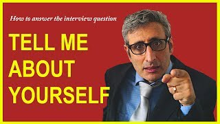 Download How to answer TELL ME ABOUT YOURSELF interview question Video
