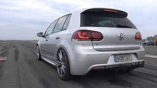 Download 800HP Volkswagen Golf 6 R R32 Turbo 4Motion 1/2 Mile Drag Race Video
