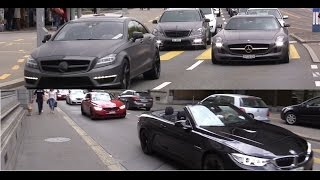 Download Best of BMW M and Mercedes AMG sounds in Zurich! Video
