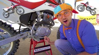 Download Blippi Rides a Motorcycle | Dirt Bikes for Children Video