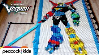 Download Voltron in 30,000 Dominoes | DREAMWORKS VOLTRON LEGENDARY DEFENDER Video