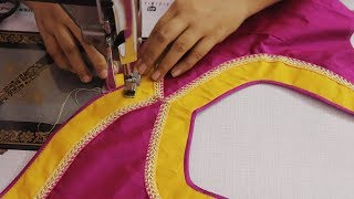 Download Patch Work Design for Saree Blouse Cutting and Stitch DIY Video