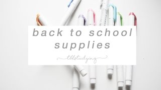 Download back to school supplies Video