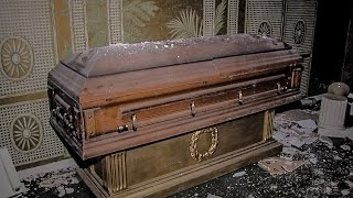 Download ABANDONED FUNERAL HOME WITH CASKETS/COFFINS Video