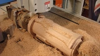 Download 6090 CNC router machining a $$4000**4th axis angel in oak Video