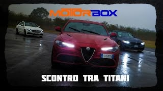 Download Alfa Romeo Giulia Quadrifoglio vs BMW M4 GTS vs Mercedes C 63 AMG S: la sfida in pista [ENGLISH SUB] Video