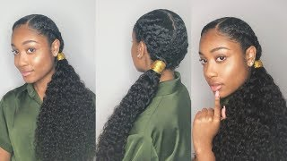 Download Long Braided Curly Ponytail - Invisible Method (Very Detailed) | Beauty Forever Hair Video