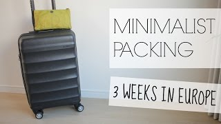 Download MINIMALIST PACKING: 3 Weeks in Europe Video