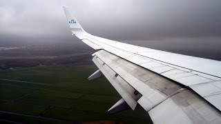 Download KLM Boeing 737-900 turbulent approach and landing at Amsterdam Schiphol AMS Video