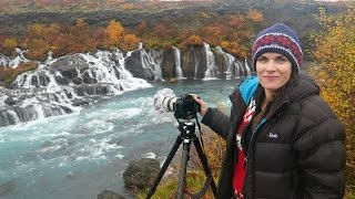 Download Photographing Hraunfossar waterfall, West Iceland Video