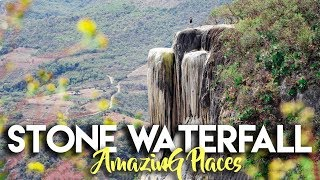 Download HIERVE EL AGUA | PETRIFIED STONE WATERFALL OF OAXACA MEXICO Video