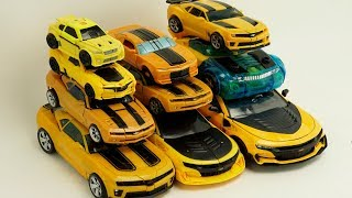 Download Transformers Bumblebee Yellow Car Color Autobots Battle Ops Transform #трансформеры Cars Robot Toys Video