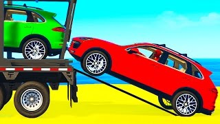 Download COLOR SUV CARS Transportation for Kids in Spiderman Cartoon w Colors for Toddlers Nursery Rhymes Video