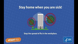 Download Feeling Sick? Stay home from work to prevent the spread of flu. Video