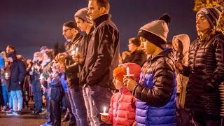 Download Candlelight vigil for fallen officer at Sheridan Elementary Video