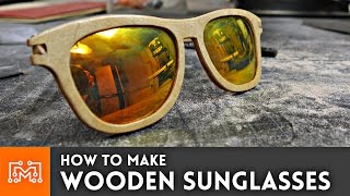 Download How to make wooden sunglasses // Woodworking Project Video