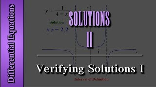 Download Differential Equations: Solutions (Level 2 of 4) | Verifying Solutions I Video