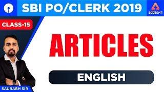 Download SBI PO/Clerk English Classes | Class 15 | SBI PO 2019 Syllabus English | Articles by Saurabh Sir Video