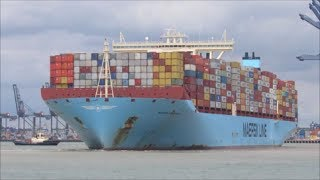 Download Ultra large Maribo Maersk departs for Malaysia 14th July 2017 Video