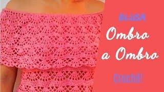 Download Blusa Ombro a Ombro ♥ Pala em Crochê ♥ Como fazer a pala fácil! Video