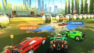 Download ROCKET LEAGUE CUSTOM MODDED 2V2 DODGEBALL! Video
