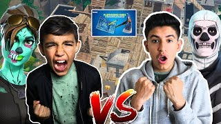Download Hilarious Fortnite NEW Playground Mode 1v1 Against 10 Year Old Little Brother! Video