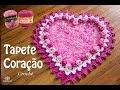 Download Tapete de Crochê Coração botão de Rosa - Parte 1 - Simone Eleotério Video