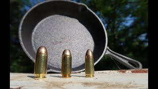 Download 9mm vs .40 Cal vs .45 ACP - Cast Iron Skillets Video