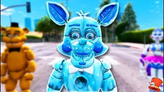 Download BRAND NEW FROZEN FUNTIME FOXY ANIMATRONICS! (GTA 5 Mods For Kids FNAF RedHatter) Video