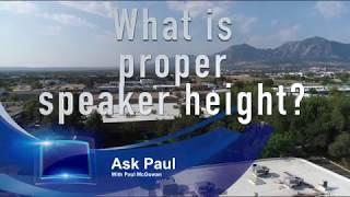 Download What is proper speaker height? Video