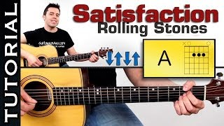 Download como tocar: Rolling Stones Satisfaction en guitarra tutorial completo super facil! Video
