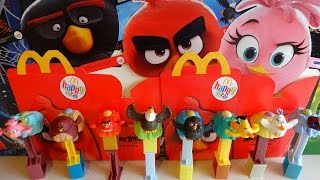Download 2016 Angry Birds Movie Masks & Toys Complete Set in Happy Meal McDonalds Europe Unboxing Video