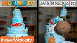 Download Giant Birthday Cake vs. Giant Boulder | WE BUILD IT WE BREAK IT Video