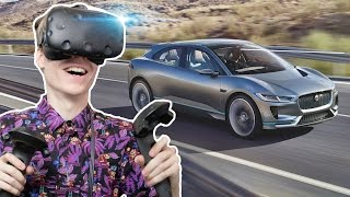 Download VIRTUAL REALITY CAR SHOWROOM | Jaguar I-PACE VR Experience (HTC Vive Gameplay) Video