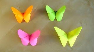 Download Basteln: Origami Schmetterling falten mit Papier. Bastelideen Geschenke: DIY Deko Video