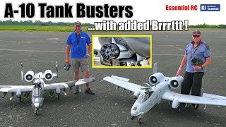 Download A-10 TANK BUSTER RC JETS in ACTION FIRING DREADED GAU-8 Gatling GUN/CANNON with added Brrrttt ! Video