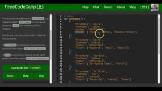 Download Profile Lookup, freeCodeCamp Basic Javascript, #97 Video