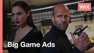 Download Wix Big Game Campaign | Build Your Own Website Video