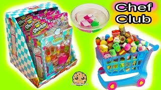 Download Large Shopping Cart & Box Full Of Season 6 Chef Club Shopkins with Surprise Blind Bags Video