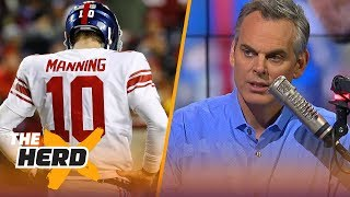 Download Colin Cowherd reacts to the New York Giants benching Eli Manning for Geno Smith | THE HERD Video