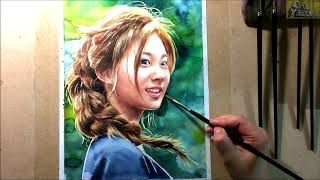 Download [Watercolor portrait] 트와이스 쯔위 수채화 그리기 (Watercolor painting TWICE Tzuyu) Video