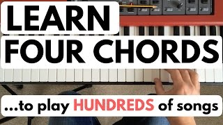 Download Piano chords for beginners: learn four chords to play hundreds of songs Video