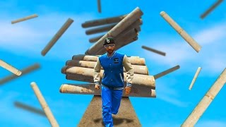 Download 1 MAN VS 1000 FALLING PIPES! (GTA 5 Funny Moments) Video
