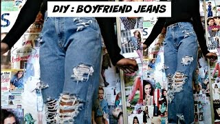 Download DIY Distressed Boyfriend jeans Video