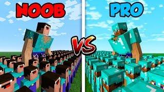 Download Minecraft NOOB vs. PRO: NOOB ARMY vs. PRO ARMY! in Minecraft! Video