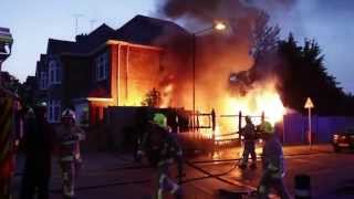 Download Burning House Fire - Kent Fire and Rescue Put out Flames Video