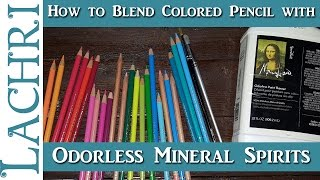 Download How to use Odorless Mineral Spirits to blend Colored Pencil - tips and techniques w/ Lachri Video
