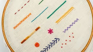 Download TOP 12 STITCHES IN HAND EMBROIDERY | Tutorial for Beginners Video