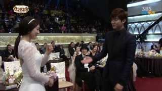 Download Park Shin Hye & Lee Min Ho at SBS AWARD 2013 , Moments / 720pHD Video