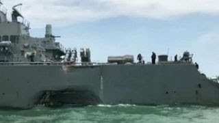 Download Search under way for 10 US sailors missing after collision Video